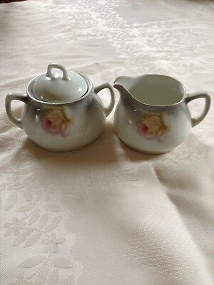 Sugar & Creamer Set Made in Germany - Ceramic Rose