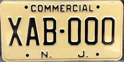 New Jersey sample license plate - Commercial
