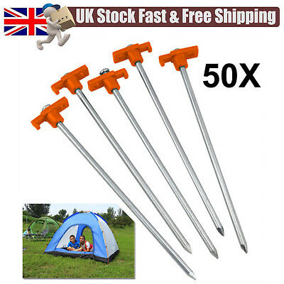 "TENT PEGS  ARC MARKERS 8/"" FLUORESCENT PEGS  6 PACK MILITARY CAMPING"