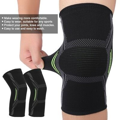 2X Knee Sleeve Compression Brace Support Sport Joint Pain Arthritis Relief SD