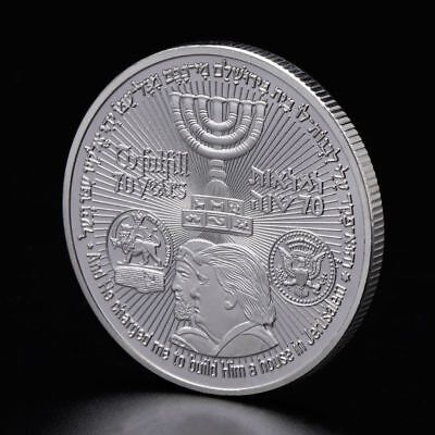 Collection Art Temple America Israel Meeting Commemorative Coin Souvenir Silver