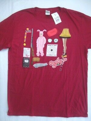 nwt a christmas story icons mens classic vintage t shirt large burgundy red