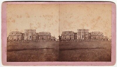 RARE Stereoview Photo - State Public Orphan School 1870s Coldwater MI Michigan