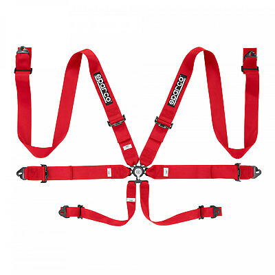 2017 Sparco Safety Belts 6 - points 04818RAC Red  (with homologation FIA)