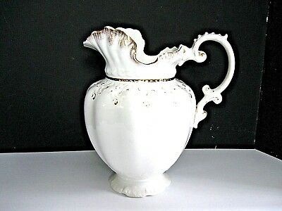 White Antique Alfred Meakin Pitcher or Large Water Jug
