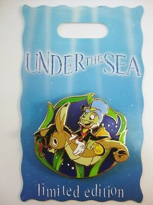 DISNEY Pin DLR UNDER the SEA Bi Monthly Series JIMINY Cricket Pinocchio