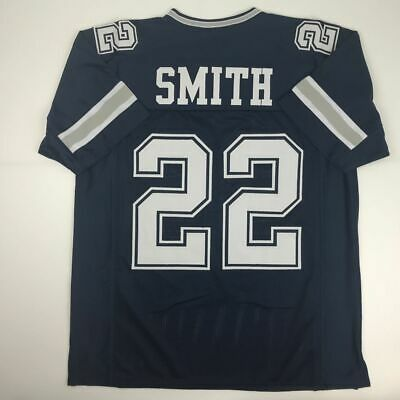 New EMMITT SMITH Dallas Dark Blue Custom Stitched Football Jersey Size  Men s XL d9f7371cc