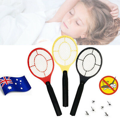 Electronic Fly Swatter Mosquito Bug Kill Electric Zapper Racket AU