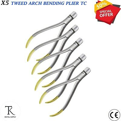 5 x Dental Orthodontic instruments Tweed Arch Bending / Forming pliers Ortho TC