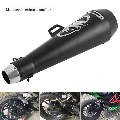 Universal Motorcycle Racing Motorbike Carbon Exhaust Muffler Removable Silencer