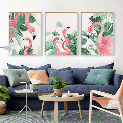 Flamingo Canvas Print Wall Painting Poster Picture Bedroom Home Decor Reliable