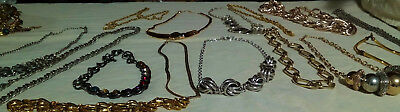 Vintage/now Lot Of Mixed Necklaces Ee3