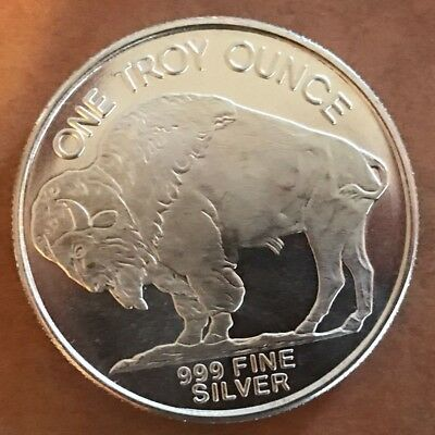 Silver coin 1oz bullion buffalo liberty indian head 999