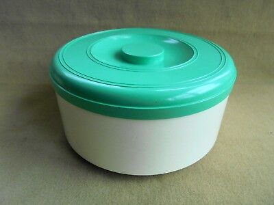 Vintage Marquis Canister Green And Cream