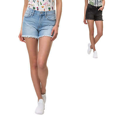Jeans Shorts Damen Bermuda Denim Damenshorts Sommershorts Used Look Sweatpants