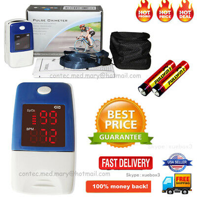 FDA SpO2 Finger Tip Pulse Oximeter Blood Oxygen meter Heart Rate Monitor CONTEC
