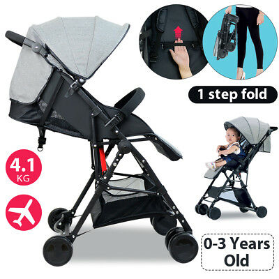 Lightweight Compact Foldable Baby Stroller Prams Pushchair Travel Carry On 4.1Kg