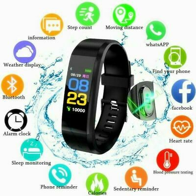 Fitness Smart Watch Fit Bit Heart Rate Blood Pressure WomenMen Kids IOS Android