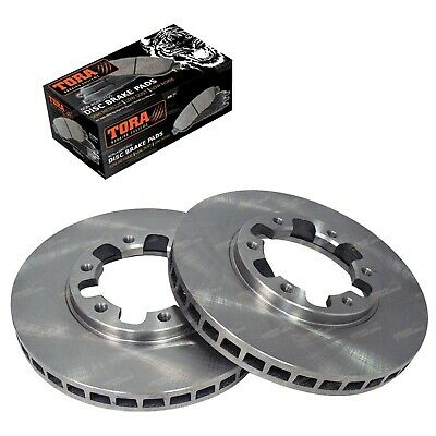 2 Front Disc Brake Rotors + Pads for Nissan GU Y61 Patrol 1997~16 Wagon Ute 4x4