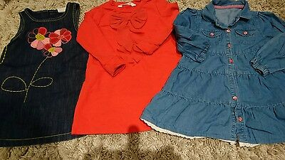 baby girl small bundle of dresses 18-24 Next h&m mothercare VGC