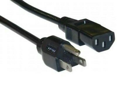 3-Prong IEC Power Supply Universal Cable Cord Plug Computer LCD CRT Monitor