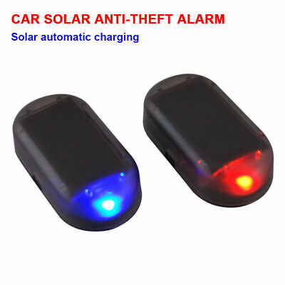 Fake Solar for Car Alarm LED Light Security System Warning Theft Flash Blinking