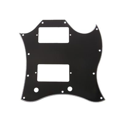 Black Full Face Pickguard Scratch Plate 3 ply For SG Guitar Parts Replacement