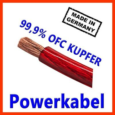25mm2 Stromkabel Powerkabel made in Germany CarHifi OFC Kupfer 25mm 25mm²  ROT