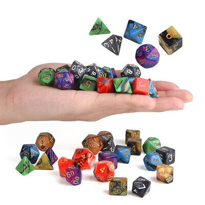 [NEW] 42Pcs 6 Colors Acrylic Mulitisided Dice Sets Role Playing Game Dice Gadget