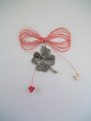 1 Martisor hand made Romania romanian march spring tradition amulet CLOVER