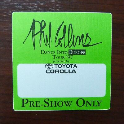 Phil Collins - Dance Into Europe Tour 1997 - VIP / Pre Show Pass - unbenutzt -