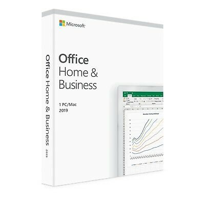 New Microsoft Office 2019 Home & Business for PC & Mac -ESD Version Outlook 2019