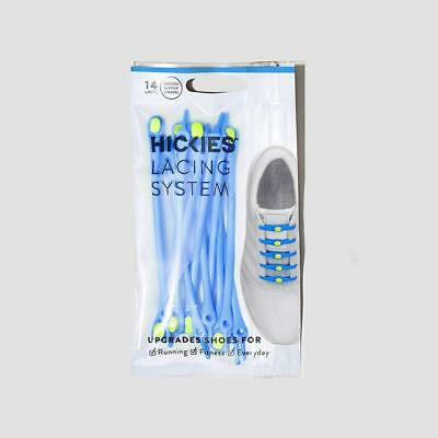 Genuine Hickies No Tie Elastic Shoe Laces 2.0,  Blue & Yellow 14 Pack, School,