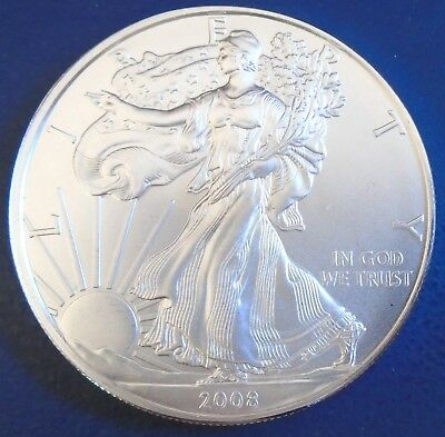 USA 2008 One Dollar Eagle, 1 troy ounce of pure silver + capsule - top grade