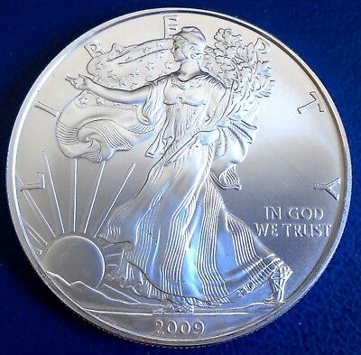 USA 2009 One Dollar Eagle, 1 troy ounce of pure silver + capsule - top grade