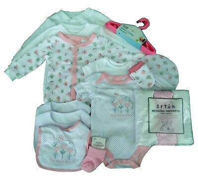 Newborn Baby Girl Clothes Gift Bundle - Baby Shower / New Baby Gift