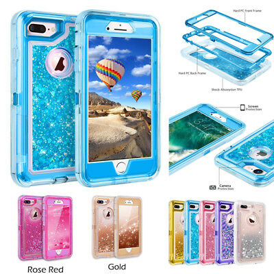iPhone 8 7 Plus 6S/6 Glitter Quicksand Flowing Liquid Full-Body Protective Case