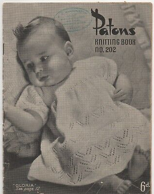 Vintage Knitting Book - Patons 202 - Baby Patterns - 1940s