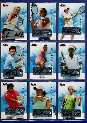 2008 Ace Authentic Grand Slam 2 - Breaking Through Autograph Cards - CHOOSE!