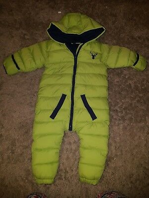 Baby boy Honour & pride Green and Navy snow suit.....18-24 months