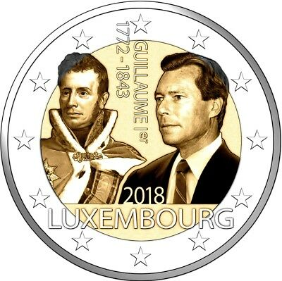 2 euros commemorative Luxembourg 2018 125 ans mort de Guillaume 1er DISPONIBLE