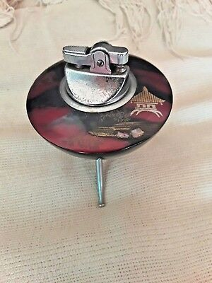 Vintage Retro Treen Space Age Oriental Petrol Table Lighter