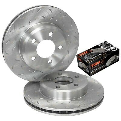 2 Front Disc Rotors + Brake Pads Falcon BA BF FG XT 2002-2012 Drilled & Slotted