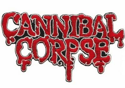 """CANNIBAL CORPSE Blood Drip Cut Out Embroidered Iron On Sew On Patch 4"""""""