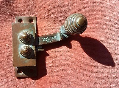 Antique Wall Mounted Brass Bell Pull or Window Fixture
