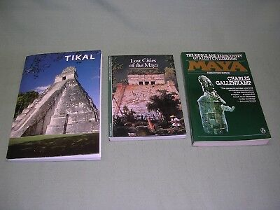 Lost Civilizations of the Maya, 3 Different Books