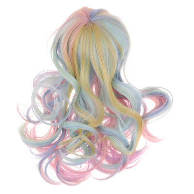 "Fantasy Wave Curly Hair Wig for 18"" American Girl Doll DIY Making Colorful"
