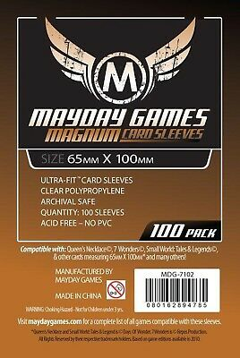 100 Large Sized Card Sleeves #1: 65 MM X 100 MM Sleeves for 7 Wonders and more (