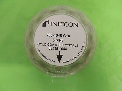 Pack of 10 Inficon 5 MHz Gold Coated Quartz Crystal Monitor Sensor OSC Crystals