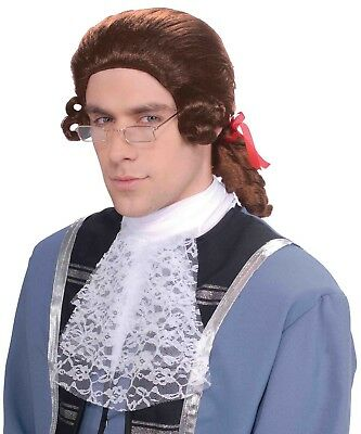 Men's Brown Colonial Adult Costume Wig One Size